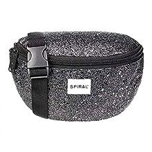 Spiral Black Stardust Bum Bag Gürteltasche, 24 cm, 3 liters, Schwarz (Black)