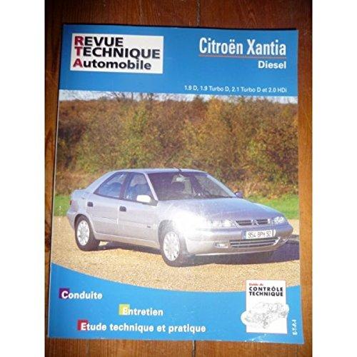 RRTA0568.3 - REVUE TECHNIQUE AUTOMOBILE CITROEN XANTIA Diesel 1.9l D, 1.9l Turbo D, 2.1l Turbo D, 2.0l HDi