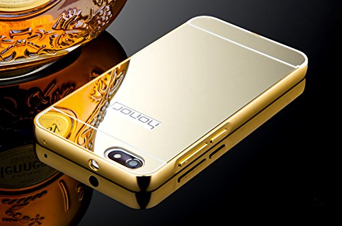Taslar(TM) Luxury Mirror Metal Series Bumper Back Cover Case For Huawei Honor 4X (Gold)