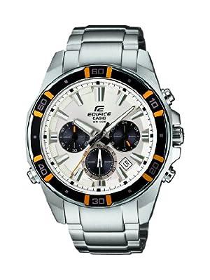 Casio 0 - Reloj de cuarzo para hombre, con correa de acero inoxidable, color plateado de Casio