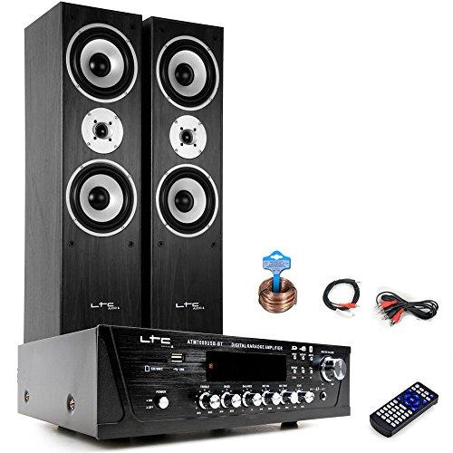 etc-shop HiFi Heimkino Musikanlage Bluetooth USB MP3 Verstärker Standboxen HiFi-Premium 6