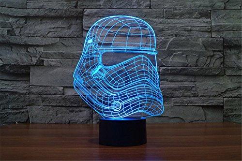SmartEra® Star War Kaiser Sturm Soldat Helm 3D Optische Täuschung Mehrfarbig ändern Berühren Sie Botton Schreibtischlampe Tischleuchte