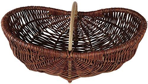 Einkaufskorb ovaler Weide Erntekorb, Kartoffelkorb, Weidenkorb groß 62cm x 27cm x 32cm (50)