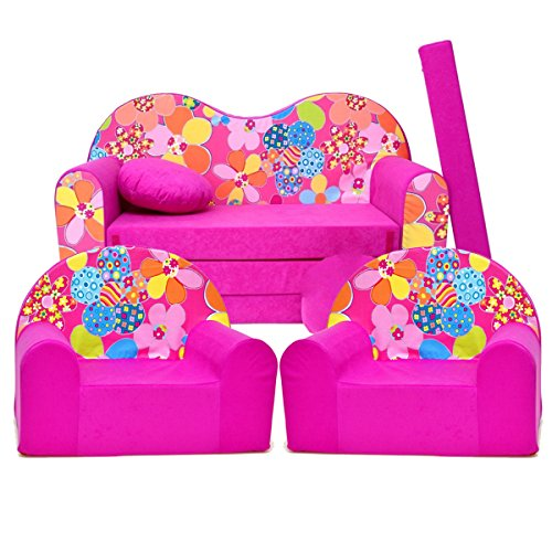 Kinder 3-er Set Kindersofa + 2 sessel H12