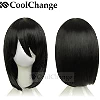 CoolChange peluca de Mikasa Ackermann de la serie Ataque a los Titanes, negra