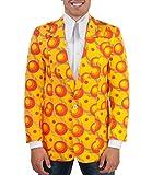 70er Jahre Muster Sakko Dots orange XXL