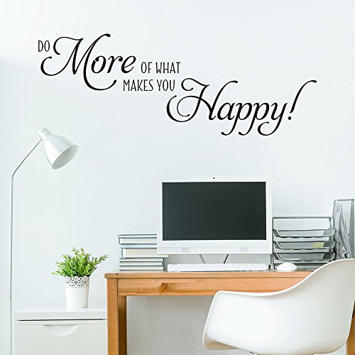 KLEBEHELD® Wandtattoo Do more of what makes you happy | Spruch Motivation | Farbe mint, Größe 80x29cm