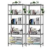 ANHPI-Shelf 5 Strati Rack di stoccaggio Scaffalatura Multiuso Moderno Scaffalature di stoccaggio con Altezza Regolabile Adatta for L'Ufficio della casa della Cucina (Size : L45*W30*H128cm)