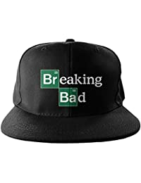 Officiellement Marchandises Sous Licence Breaking Bad Logo Brodé Taille Ajustable Snapback Casquette (Noir)