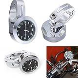 VORCOOL Mini Wasserdichte 7/8 Motorrad Zubehör Motorrad Lenkerhalterung Digitaluhr