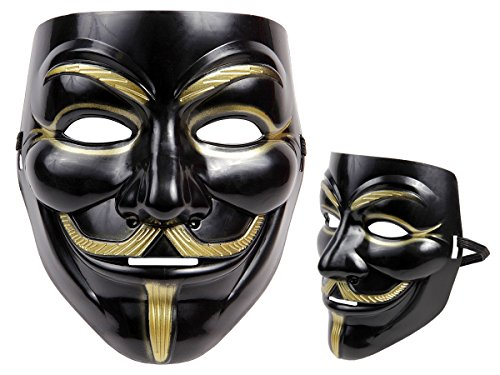 Totenkopfmaske Vendetta Maske Karneval Saw Fasching Maske Blue Mask Kostüme Geist, wählen:Mas-14 Vendetta schwarz