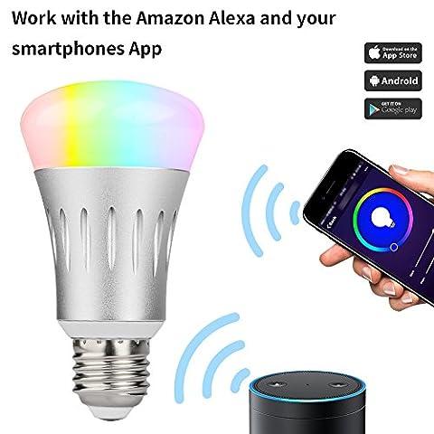 Duomishu Wifi Smart LED Glühbirne für Steuerbar via App Einstellung der Szene wählen Sie zuerst Smart Home intelligentes Leben mit Amazon Alexa, 8W E27