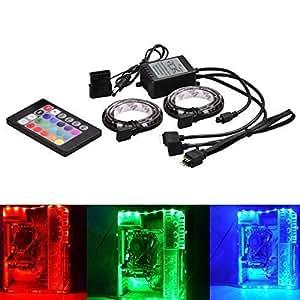 eTopxizu Computer RGB LED Light Strip with Remote control,RGBW LED Light Flexible Lamp Strip DC 12V for PC Computer Case