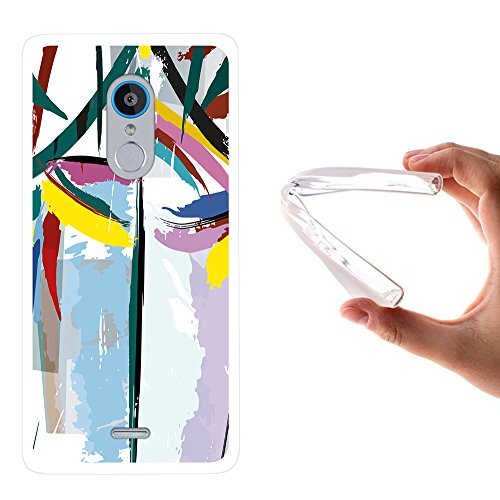 ZTE Blade V580 -V Plus Hülle, WoowCase Handyhülle Silikon für [ ZTE Blade V580 -V Plus ] Abstrakte Farben Muster 2 Handytasche Handy Cover Case Schutzhülle Flexible TPU - Transparent