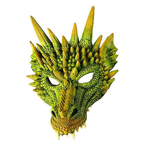 QIHONG 3D PU Schaum Tier Drachenkopf Maske, Simulation Drachengesicht Spielzeug für Karneval Halloween Karneval Weihnachten Kostüm Party Cosplay Lieferungen für Erwachsene oder Jugendliche (Beängstigend Kostüm Für Jugendliche)