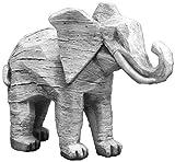 Gartendekoration Schöner Elefant aus Steinguss, frostfest