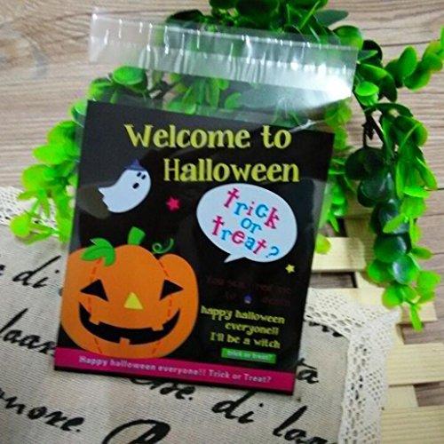 100PCS Happy Halloween Snack Paket für Kinder, yoyoug 100PCS Happy Halloween Candy Tasche Snack Paket Kinder Haushalt Kid Garten Home Decor, a, Einheitsgröße (Schokolade Handtasche Tote Große)