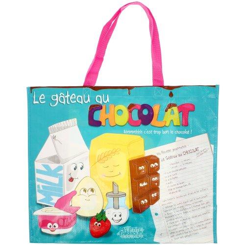 Promobo - Sac de Courses Cabas Pour shopping Picto Recette Gateau Chocolat