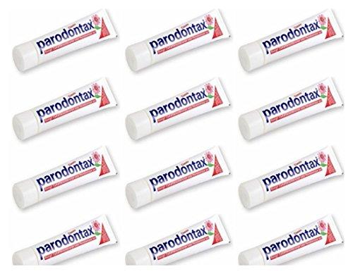 12 X Parodontax dentifricio Protegge le gengive sanguinanti deboli ed arrossate