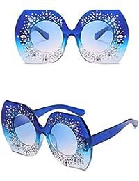 JAGENIE Frauen Oversized Gradient Frame Strass Sonnenbrille Fahren Outdoor Brillen 3 yzWpMSK7