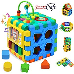 Smartcraft Activity Cube Multipurpose Play Centre for Toddlers and Kids, Skill Improvement Educational Game Toys , Busy Learner Cube