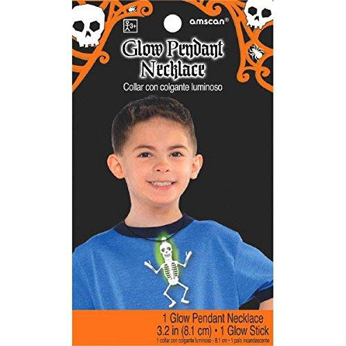 Amscan International 394474-558cm Glow in The Dark Skelett Halskette (Halloween-glow Tischdecke In Dark The)