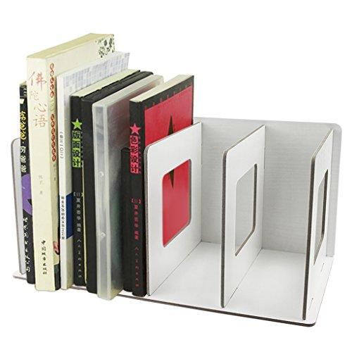 BXT - Caja de almacenamiento de escritorio de madera extraíble tipo 'hágalo usted mismo', organizador de estante para suministros de oficina, revistero, sporte de CD´s, organizador de escritorio, perchero., color White Maple