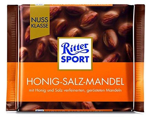 Ritter Sport Nuss Klasse Honig Salz Mandel Tafelschokolade, 5er Pack (5 x 100 g)