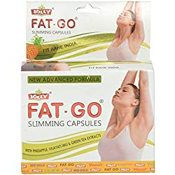 Jolly Fat-Go Slimming Capsules With Pineapple, Vilayti Imli And Green Tea Exytacts (Yellow)- 60 Capsules