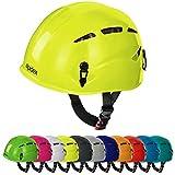 Casco de escalada universal ARGALI Casco de ferrata en modernos y variados colores de Alpidex, color: lime green