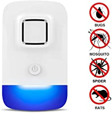 Ultrasonic Pest Control Repeller Home Garden Pest Reject Repellent Electronic Plug In Lizard Repellent for Mice, Ants, Cockroaches, Rodents, Rats, Bug, Spider, Flies, Non-toxic and Eco-friendly for Indoors Outdoors