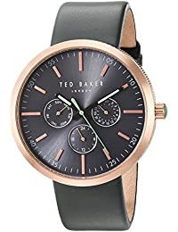 aa7a5b75ab9 Ted Baker Men s  JACK  Quartz Stainless Steel and Leather Dress Watch