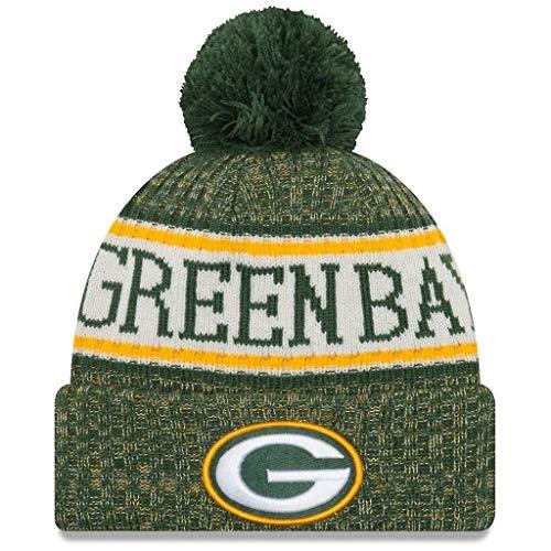 New Era American Football NFL Teamsport Winter Strickmütze Unisex Beanie Mütze, Green Bay Packers 6851, OSFM