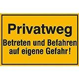 Privatweg - Betreten und Befahren auf eigene Gefahr!, Alu geprägt, Gr. 30x20 cm