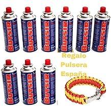 12 Cartucho Gas Butsir Cartucho de Gas Butano B-250 Envio 24Horas Por Asm Urgente