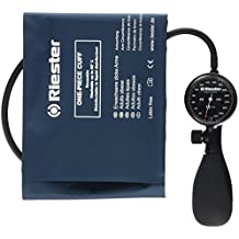 Riester 1250-152 R1 shock-proof, tensiómetro, negro, brazalete desinfectable brazos