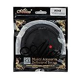 Alice 104,14 cm/106,68 cm de caucho de color negro de la cubierta del agujero de sonido de la guitarra eléctrica acústica de bloque de