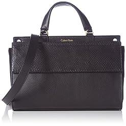 Calvin Klein Shari Snake Small, Handtasche, Schwarz