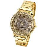 Sanwood® Fashion Men's Retro Gold Plated Crystal Business Casual Analog Quartz Alloy Wrist Watch