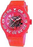 Swatch Deep Berry - Reloj de cuarzo unisex, con correa de plástico, color rosa