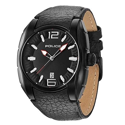 Police Herren-Armbanduhr Analog Quarz Leder PL.13752JSB/02A