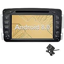 Ohok 7 Pollici Android 8.0.0 Oreo Octa Core 4G+32G 2 Din In Dash Autoradio Schermo di Tocco Lettore DVD Navigatore GPS Con Bluetooth Per Mercedes-Benz C class W203/Clk -C209/W209/Viano/Vaneo/G-W463/A-Class W168 con piccola telecamera di retromarcia