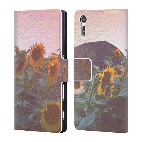 official-olivia-joy-stclaire-summer-sunflower-field-nature-leather-book-wallet-case-cover-for-sony-x