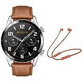 Huawei Watch GT 2 Classic Pebble Brown (Latona-B19V) + Wireless Headsets