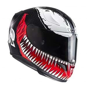 HJC Casque de Moto RPHA 11 VENOM MC1, Noir/Rouge, Taille XL