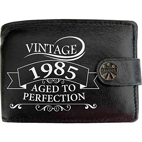 Aged To Perfection 1985 Soft Black Leather Wallet
