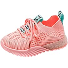 Kids Shoes Boys Girls Casual Mesh Sneakers Led Light Up Shoes Luminous Flashing Sneakers Breathable Sport Running Soft Shoes Casual Shoes Trainers by LILICAT