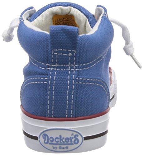 Dockers by Gerli  36AY60, Baskets hautes mixte enfant Bleu - Blau (blau 600)