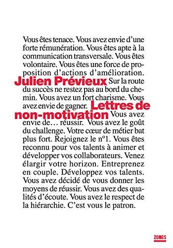 Lettres de non-motivation par Julien PRÉVIEUX