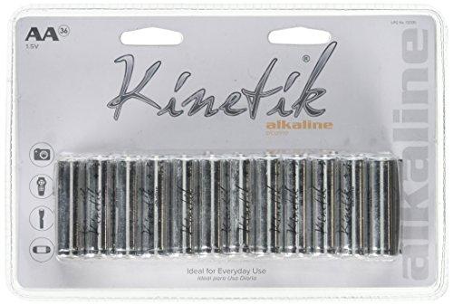 Kinetik 53335Alkaline Batterien AA, 36Stück -